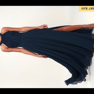 Navy gown. Size 12, never worn with tags.